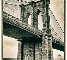 Brooklyn Bridge Sepia by Jessica Jenney