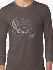 Volkswagen Beetle Splash BW © Long Sleeve T-Shirt