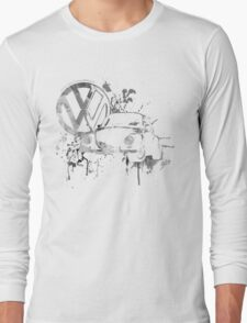 Volkswagen Beetle Splash BW © Long Sleeve T-Shirt