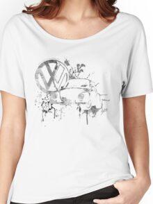 Volkswagen Beetle Splash BW © Women's Relaxed Fit T-Shirt