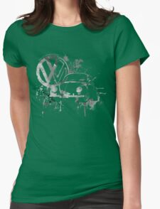Volkswagen Beetle Splash BW © Womens Fitted T-Shirt