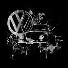 Volkswagen Beetle Splash BW © by BlulimeMerch