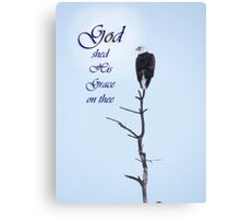 Bald Eagle in Tree Top God's Grace Canvas Print