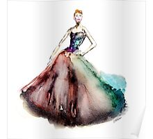 Prima Ballerina Girl Fashion Pink Dress Cinderella Girl Princess Poster