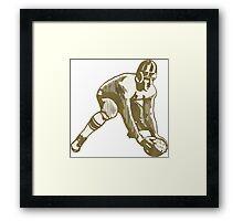 Football Player Framed Print