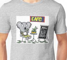 Cartoon of happy koala bear eating gum leaf salad Unisex T-Shirt