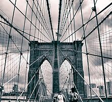 Brooklyn Bridge Crossing by Jessica Jenney
