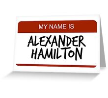 Hamilton Nametag 1 Greeting Card
