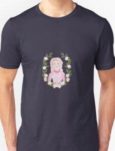 Cute Watercolor Girl Portrait Unisex T-Shirt