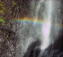 Rainbow in the Waterfall. by MardiGCalero