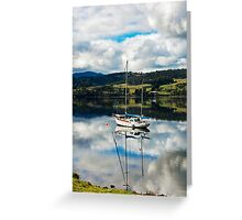Boats on the Huon Greeting Card