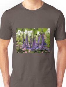 Purple Flowers,(Iochroma Australe,) Somerset, Tasmania, Australia. Unisex T-Shirt