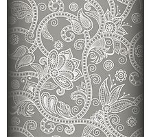Grey Floral Photographic Print