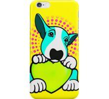 Love You English Bull Terrier Pup Aqua  iPhone Case/Skin