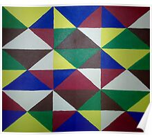 Bold Triangle Pattern Poster