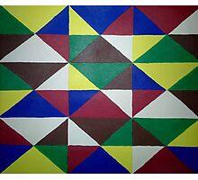 Bold Triangle Pattern Photographic Print