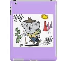 Cartoon of happy koala bear swagman in outback iPad Case/Skin