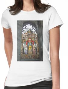 Window in St Nicholas' Church Womens Fitted T-Shirt