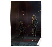 Lexa bows to Clarke Poster