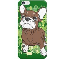 French Bull Dog Cartoon Brown and White iPhone Case/Skin