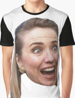 Hillary Clinton Surprise (white) Graphic T-Shirt