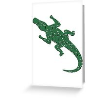 Alligator art puzzle pattern Greeting Card