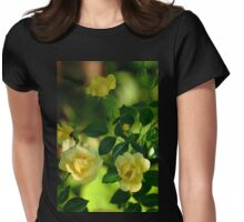 Yellow Carpet Rose Womens Fitted T-Shirt
