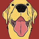 Happy Yellow Lab by rmcbuckeye