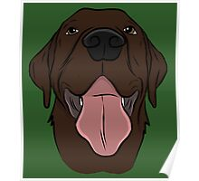 Happy Chocolate Lab  Poster