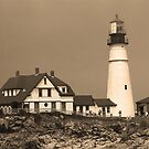 Lighthouse - Portland Head, Maine by Frank Romeo