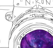 Vintage Galaxy Camera Art Sticker