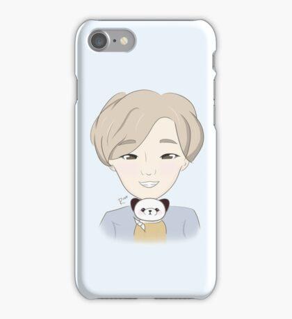 FAN ART NII Blue Chibi Nam Taehyun Selca with Potato iPhone Case iPhone Case/Skin