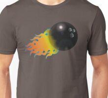 Flaming Bowling Ball Unisex T-Shirt