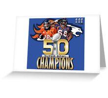Denver Broncos Superbowl champions Greeting Card