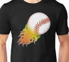 Flaming Baseball Unisex T-Shirt