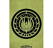 Battlestar Galactica Design - Colonial Seal Photographic Print