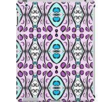 Pink Blue Repeating Geometrical Pattern iPad Case/Skin