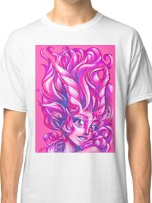 Sparkly Space Goat Girl Classic T-Shirt