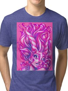 Sparkly Space Goat Girl Tri-blend T-Shirt