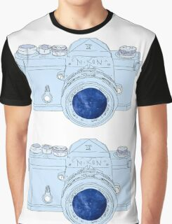 Vintage Galaxy Camera Colored Graphic T-Shirt