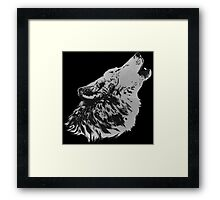 Howling Gray Wolf Framed Print