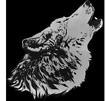 Howling Gray Wolf Photographic Print