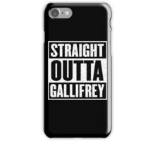 Straight Outta Gallifrey - The Time Lord's in the Hood - Movie Mashup - Geek Humor - Syfy - Doctor Who Mashup iPhone Case/Skin