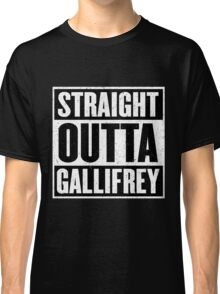 Straight Outta Gallifrey - The Time Lord's in the Hood - Movie Mashup - Geek Humor - Syfy - Doctor Who Mashup Classic T-Shirt