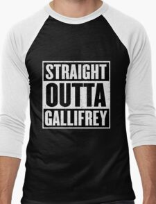 Straight Outta Gallifrey - The Time Lord's in the Hood - Movie Mashup - Geek Humor - Syfy - Doctor Who Mashup Men's Baseball ¾ T-Shirt