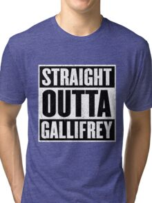 Straight Outta Gallifrey - The Time Lord's in the Hood - Movie Mashup - Geek Humor - Syfy - Doctor Who Mashup Tri-blend T-Shirt