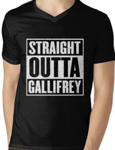 Straight Outta Gallifrey - The Time Lord's in the Hood - Movie Mashup - Geek Humor - Syfy - Doctor Who Mashup Mens V-Neck T-Shirt