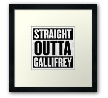 Straight Outta Gallifrey - The Time Lord's in the Hood - Movie Mashup - Geek Humor - Syfy - Doctor Who Mashup Framed Print