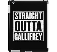 Straight Outta Gallifrey - The Time Lord's in the Hood - Movie Mashup - Geek Humor - Syfy - Doctor Who Mashup iPad Case/Skin