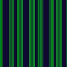 Classic Navy Blue and Green Stripes by donnagrayson